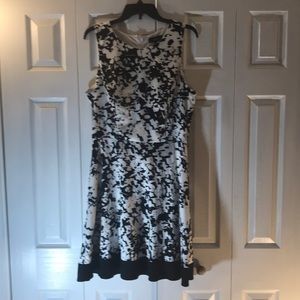 Lux II black and white dress